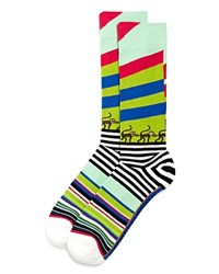 Bloomingdale's The Store At Monkey Business Socks Teal