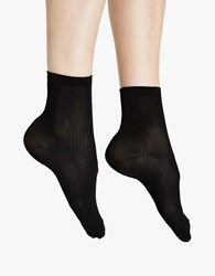 Hue Ultra Fine Anklet Sock Black