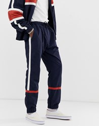 Weekday Benny Wind Joggers In Navy