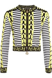 Versace Knitted Cardigan Chartreuse
