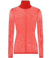 Gabriela Hearst Steinem Cashmere And Silk Sweater Red