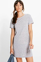 Boohoo Cap Sleeve T Shirt Dress Grey