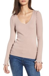 Chelsea 28 Chelsea28 Pearly Bead Detail Sweater Pink Adobe