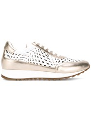 Loriblu Cut Out Panel Sneakers Metallic
