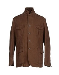Montedoro Coats And Jackets Jackets Men Brown