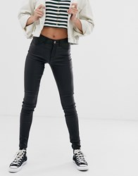 Pieces Coated Skinny Jeans Black
