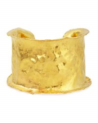 Jean Mahie 22K Yellow Gold Hammered Cuff Bracelet