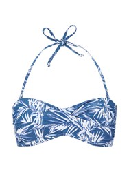 Phase Eight Madagascar Print Bikini Top Blue