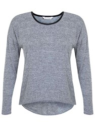 Miss Selfridge Twist Cut Out Back Top Grey