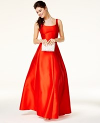 B. Darlin B Juniors' V Back A Line Gown Red