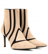 Balenciaga Suede Ankle Boots Neutrals