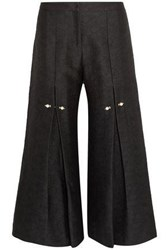 Mother Of Pearl Jacquard Culottes Black