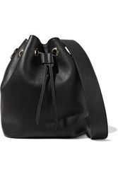 Iris And Ink Maria Leather Bucket Bag Black