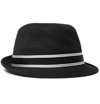 Dolce And Gabbana Grosgrain Trimmed Woven Cotton Fedora Black