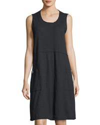 Neon Buddha Napa Patch Pocket Jersey Dress Black