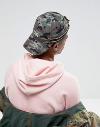 Cayler And Sons Baseball Cap In Camo With Embroidered Logo Camo Green