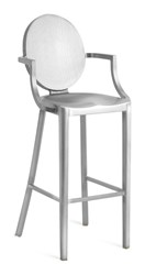 Emeco Kong Barstool With Arms Gray