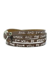Good Work S Make A Difference Pebble Wrap Around Scripture Multi Wrap Leather Cuff Bracelet Brown