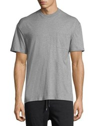 Public School Gilham Woven Back T Shirt Gray