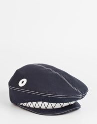 Thom Browne Shark Beret Navy