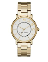 Marc Jacobs Roxy Goldtone Stainless Steel Three Hand Bracelet Watch