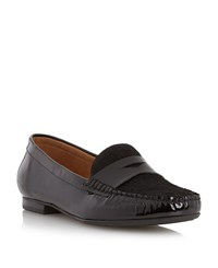Episode Galilee Pony Detail Loafers Black Patent