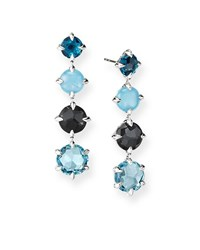 David Yurman Chatelaine Drop Earrings W Topaz Hampton Blue Topa