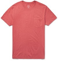 J.Crew Broken In Cotton Jersey T Shirt Red