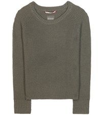 81 Hours Merino Wool And Cashmere Sweater Green