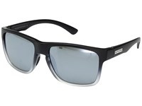 Suncloud Polarized Optics Rambler Black Gray Fade Silver Mirror Polycarbonate Lens Sport Sunglasses Blue