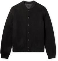 The Row Trevor Double Faced Cashmere Bomber Jacket Black
