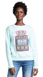 Michaela Buerger I Love Paris Sweatshirt Light Turquoise
