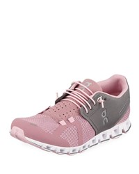 Cloud Cushioned Knit Sneakers Pink Black