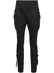 Alexandre Plokhov Tapered Cargo Trousers Black