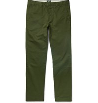 Todd Snyder Hudson Cotton Twill Chinos Dark Green