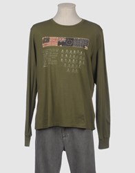 Polo Jeans Company Topwear Long Sleeve T Shirts Men Military Green