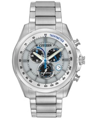 Citizen Men's Chronograph Eco Drive Stainless Steel Bracelet Watch 43Mm At2130 59A No Color