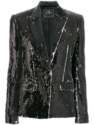 Unconditional Two Tone Sequinned Jacket Black