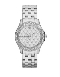 Armani Exchange Ladies Hampton Stainless Steel Watch Silver
