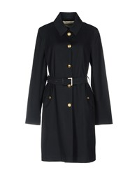 Kiton Overcoats Dark Blue