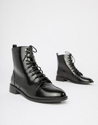 London Rebel Clean Hiker Boots Black Box
