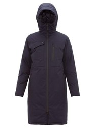 Nobis Technical Down Hooded Parka Coat Navy