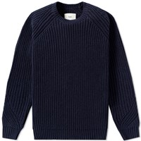 Folk Chunky Direction Crew Knit Blue
