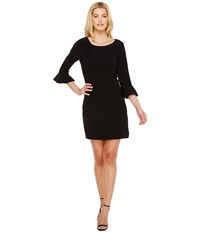 Laundry By Shelli Segal Matte Jersey Flounce Sleeve Dress Black Women's Dress