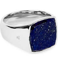 Tom Wood Cushion Sterling Silver And Blue Lapis Ring