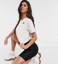 The North Face Cropped Simple Dome T Shirt In Cream Exclusive At Asos