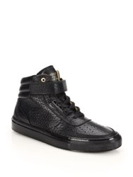 Android Epsilon Mid Top Leather Sneakers Black