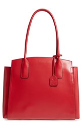 Lodis Zola Leather Tote Red