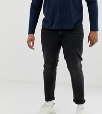 Jack And Jones Plus Size Jean In Washed Black
