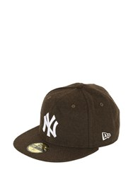 New Era 59Fifty Yankees Melton Fitted Hat